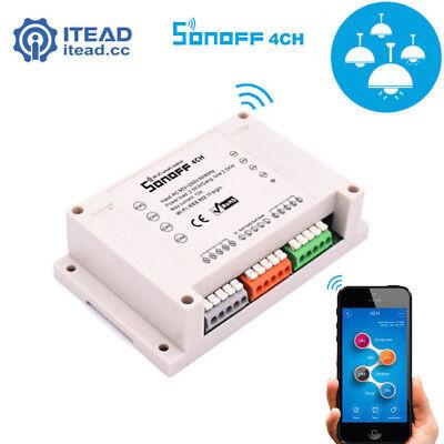 Sonoff 4CH ITEAD 4 Channel Din Rail Mounting WiFI Switch Wireless Smart Switch