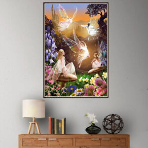 Full Drill 5D DIY Diamond Painting butterfly fairy Cross Stitch kit Home Decor ,