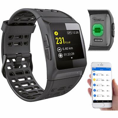 GPS-Sportuhr, Bluetooth, Fitness, Puls, Nachrichten, Farbdisplay, IP68