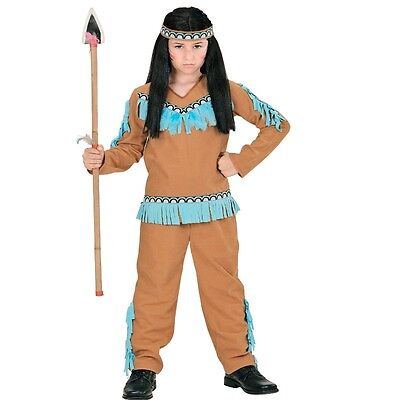 3 tlg. INDIANER JUNGE Kinder Kostüm Apache Krieger Camel 104 116 128 140 - Kind Camel Kostüm