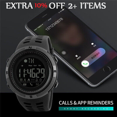 SKMEI Fashion Men's Smart Watch Bluetooth Digital Sports Wrist Watch Waterproof