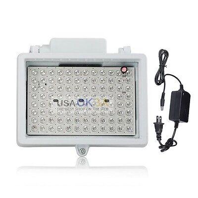 96 LED CCTV Camera Night Vision IR Infrared Illuminator Light&12V Power Adapter