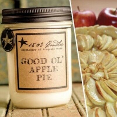 1803 Candles,  14 oz. Soy Jar Candle, Good Ol' Apple Pie
