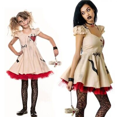 Halloween Costume Voodoo Doll Costumes for Adults&Child Fancy Cosplay Mini Dress - Doll Costumes For Adults