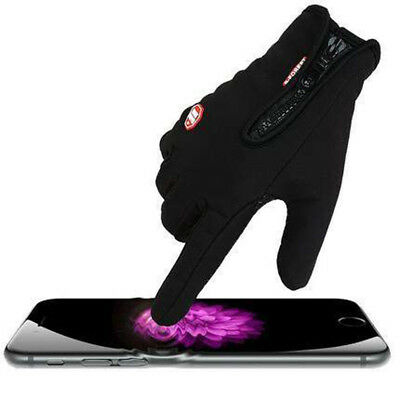 Men's Classic Black Winter Gloves & Mittens Driving Touch Screen Military Gloves