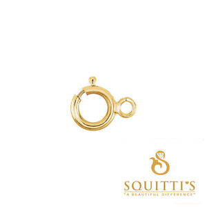 Chain spring rings, lobster clasps, in gold, silver and more.