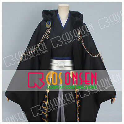 Cosonsen Touken Ranbu Tsurumaru Kuninaga Cosplay Costume Full Set Black Version