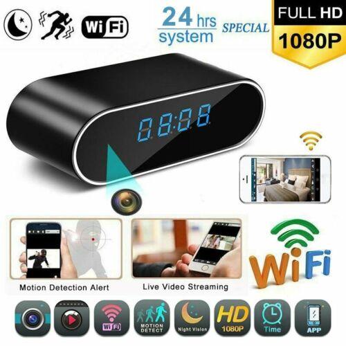 FHD 1080P Spy Hidden Camera Clock IR Night Vision Mini DV Digital Video Recorder