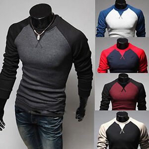 Fashion-Spring-Luxury-Men-Casual-Long-Sleeve-Shirts-Slim-Fit-T-Shirt-Tops-Blouse