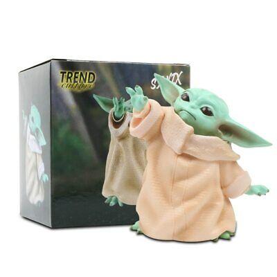 Star Wars Yoda The Child Mandalorian Baby Yoda Life Size 8CM Action Figure Toy