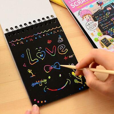 Scratch Art Doodle Pad - DIY Painting Scratch Paper Art Doodle Pad Children Educational Doodling Toys Top
