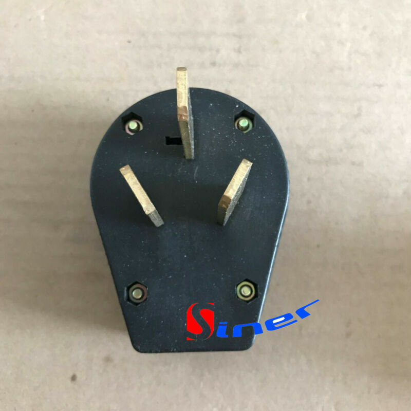 New 50 amp 220 Volt 3 prong plug Replacement Electrical RV Welder 220V 2.95inch