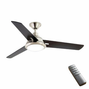 "BNIB Gardinier 52"" LED Brushed Nickel Ceiling Fan Light w remote"