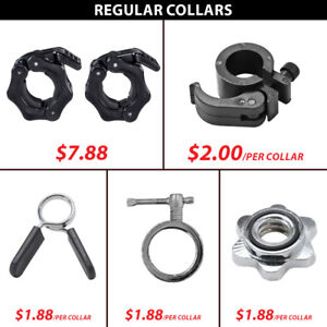 Spin Threaded Regular Collar Collars Hex Lock Bar Pvc Adjustable