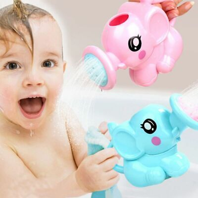 Baby Kids Elephant Grooming Watering Plastic Can Bath Toys Cartoon Shower Tool