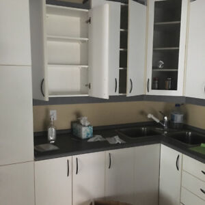 Kitchen cabinets, countertop, sink for sale