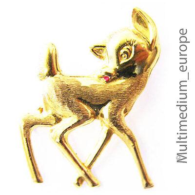 MELINA Charm Anhänger Reh Bambi Silber 925