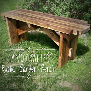 Hand Crafted Rustic Garden Bench