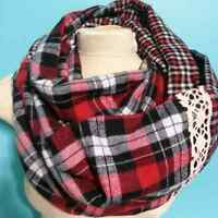 Flannel and Plaid Infinity Scarf