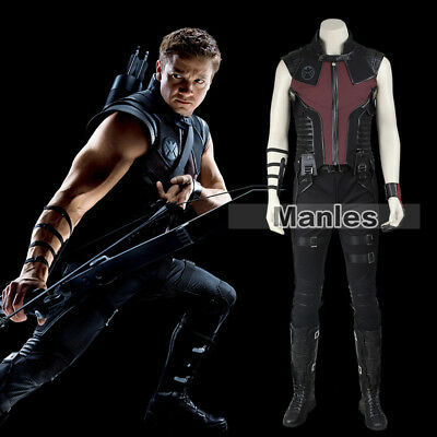 Marvel The Avengers 1 Costume Hawkeye Clinton Francis Barton Cosplay Suit Fiesta