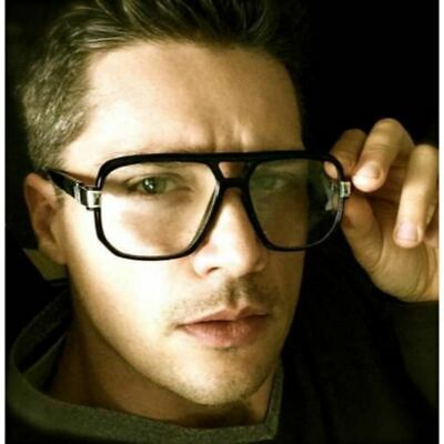 AVIATOR RETRO VINTAGE THICK FULL RIM ES MEN WOMEN BIG (Thick Rimmed Glasses For Men)