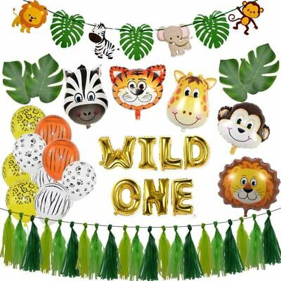 Children Birthday Party Animal Balloons Jungle Safari Theme Decorations Supplies](Safari Theme Decor)