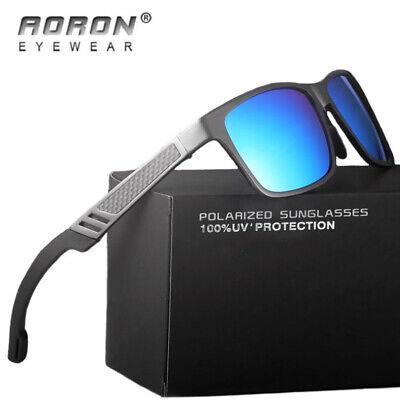 Herren HD Sonnenbrille Polarisiert Metal 100% UV 400 Schutz Fahren Pilotenbrille