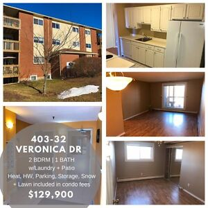 2 Bedroom Condo in Clayton Park with Laundry