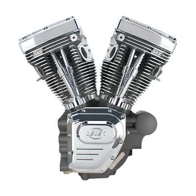 T124 S&S CYCLE TWIN CAM HD ENGINE STONE GRAY 07+ TOURING 640 CAMS