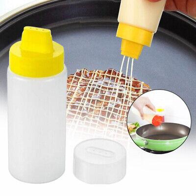 2pcs 300ml Plastiksalat Dressing Squeeze Flasche Gewürzspender