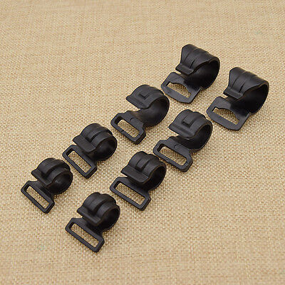10pcs Camping Tent Pole Clips for DIY Hiking Tent Clip Accessories Kits Black - Diy Camping Tent