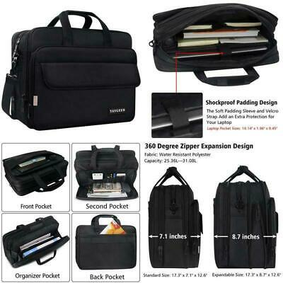 Expandable Attache - 17 Inch Laptop Bag, Large Briefcase For Men Women, Expandable Business Attache,