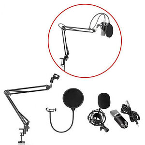Music Studio Mic Micro Microphone Suspension Stand Support 1606