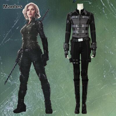 Natasha Romanoff Costume (Avengers 3 Infinity War Natasha Romanoff Cosplay Black Widow Sexy Costume)