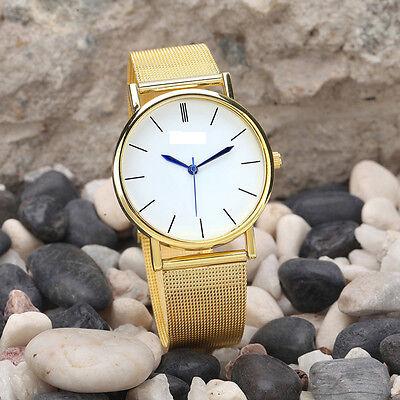 Fashion Women's Watches Stainless Steel Gold Band Quartz Analog Wristwatch Часы