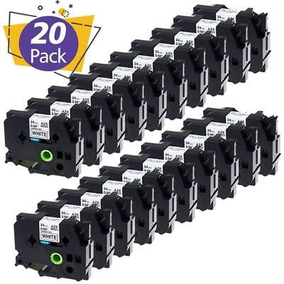 20pk Tze-251 Label Tape Compatible Brother P-touch Label Maker Pt-p700 24mm