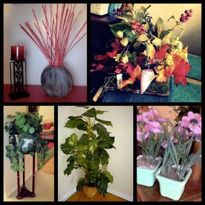 Decor Items- Candle and holders, Artificial plants and flowers Kitchener / Waterloo Kitchener Area image 1