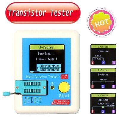 Lcr-t7 Tft Transistor Tester Diode Triode Capacitance Esr Meter Lcr Mosfet Kit