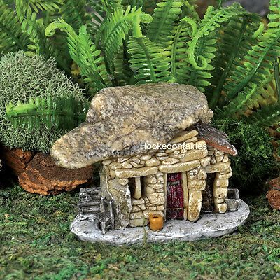 Miniature Micro Rock Top Troll House w/Flower Pot  17445 Fairy Garden Terrarium