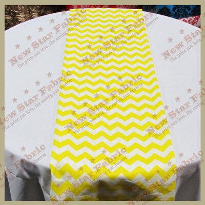 Yellow Table Runners (Table Runners Chevron Zig Zag Print Cotton 4 Pcs. 14