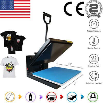 Clamshell 15x15 Heat Press Machine Digital Sublimation Transfer Diy T-shirt Us