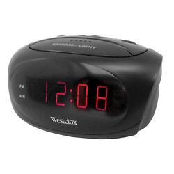 Westclox  0.6 in. L Black  Digital  Alarm Clock  Batteries Required