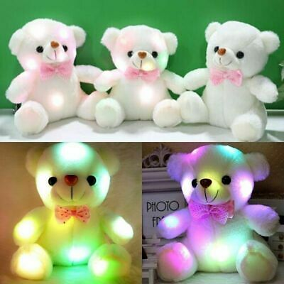 Best Stuffed Animals For Babies (So Cute Toys for Girls Kids LED Stuffed Bear Night Light Lamp Toy Baby Best)