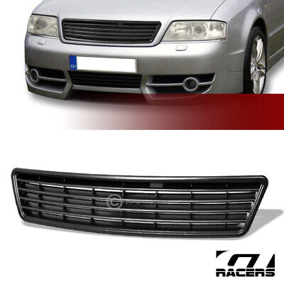 Sale For 1998-2001 Audi A6 C5 Euro Blk Horizontal Front Hood Bumper Grille ABS
