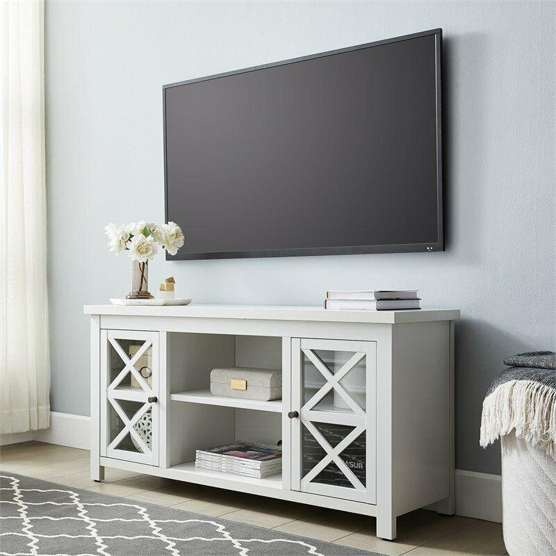 Henn&Hart White TV Stand