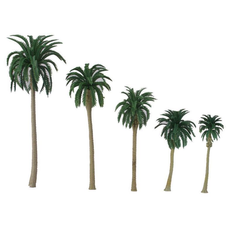 15x Modellbau Kokospalme Kokosnuß Palmen Landschaft Pflanzen 5 Größe Dekoration