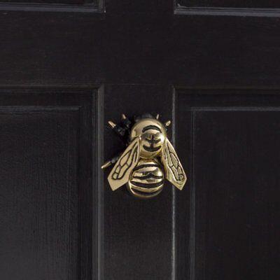 """Frond Door Brass Knocker Bumblebee Figurine Polished Exterior Handcrafted 4.5""""H"""