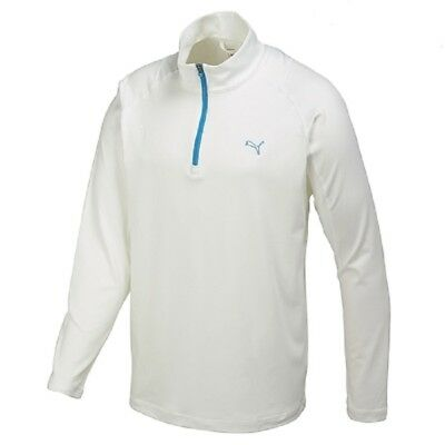 PUMA GOLF SOLID 1/4 ZIP POPOVER Gr. S M L Sweat DryCell 569113 02 Weiß Pullover ()