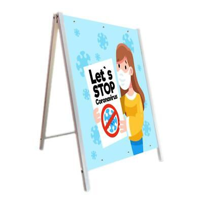 24x36 Sidewalk A-frame Sign Holder Stand Double-sided Display 1 Pack