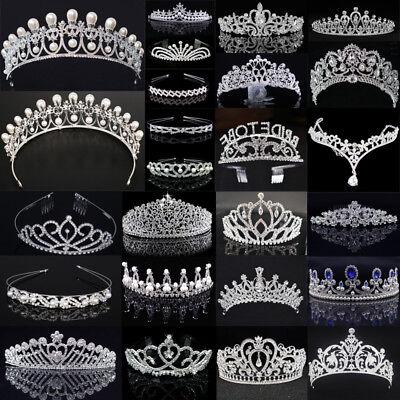 Luxury Wedding Bridal Crystal Tiara Crown Princess Queen Pageant Prom Rhinestone